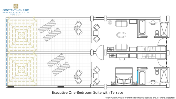24 Executive One-Bedroom Suite with Terrace