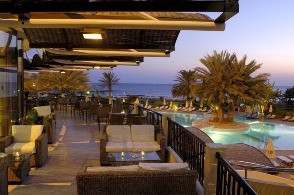 13 ATHENA BEACH HOTEL VERANDA NIGHT SHOT