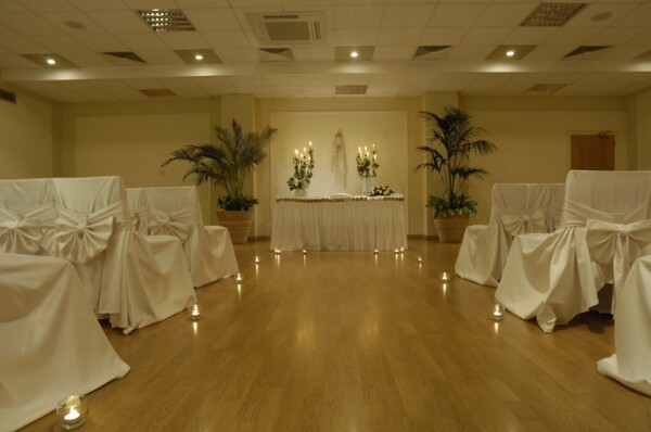 43 ATHENA BEACH HOTEL INDOOR WEDDING SETUP