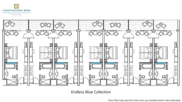 30 Endless Blue Collection with Balcony