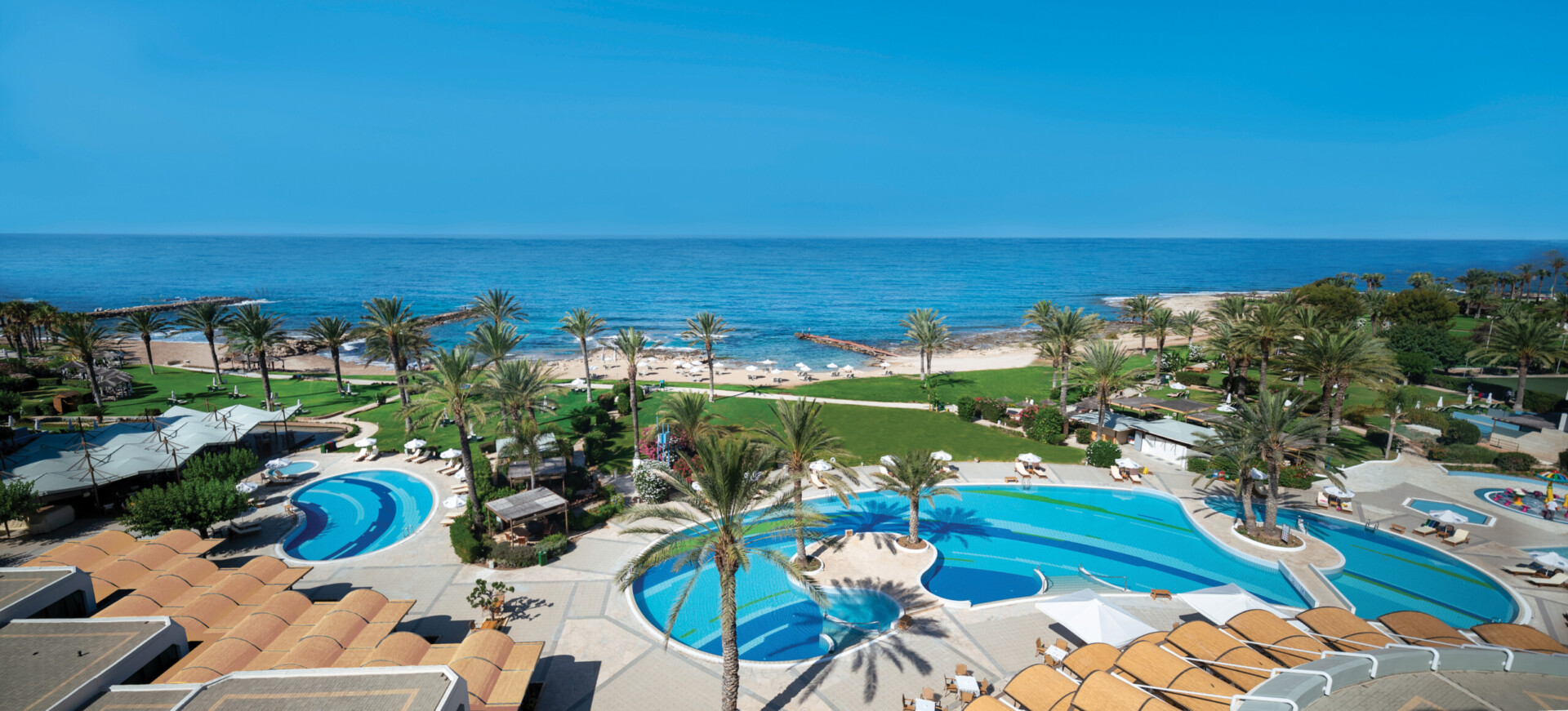5 ATHENA BEACH HOTEL POOL AND SEA VIEW